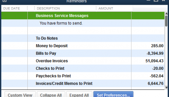 Are You Using QuickBooks' Reminders?-blog
