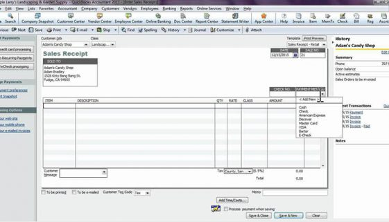 All about Sales Receipts in QuickBooks-williamscpa-blog